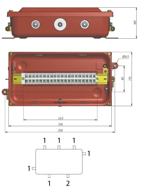 коробка клеммная КЗНА-16
